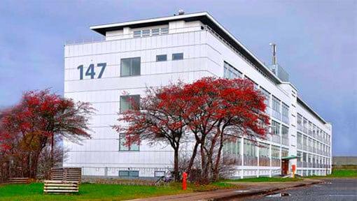 Et bilde af SpaceInvaders hovedkontor på Refshalevej 147 i København i Danmark.