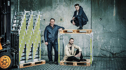 Et bilde af grunnleggerne av SpaceInvader: Jesper Rølund, Steen Frederiksen, Mads Klie-Holde