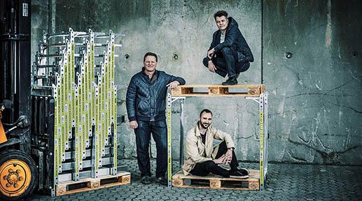 Et billede af de tre grundlæggere af SpaceInvader: Jesper Rølund, Steen Frederiksen og Mads Klie-Holde.