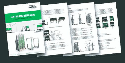 Billede af produktfoldere og manualer til brug af SpaceInvader.